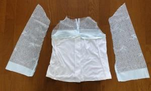 9.ブラウス縫う経過