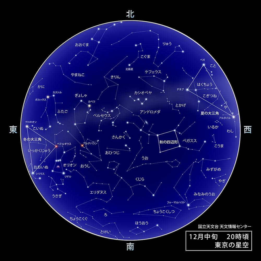 12月東京の夜空