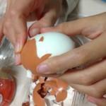 不器用な子供のトレーニングは「ゆで卵に針でむきやすい」を体感!